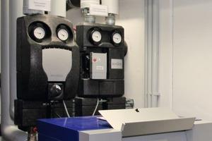 Kontrollstelle für die Warmwasser-Ladepumpe und die Zubringerpumpe der Fussbodenheizung<br />