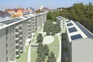 Simulation: Der Innenhof der Wohnanlage nach der Sanierung<br />