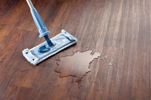 Mit einem Wisch ist alles weg: Designböden sind strapazierfähig und leicht zu reinigen<br />