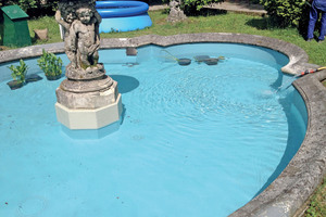Nach der Sanierung entspricht der Brunnen wieder dem feudalen Ambiente der italienischen Villa Magni