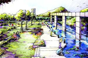 """Das Leitbild """"Wasser nutzen und erleben"""" kann beispielsweise mit der Gestaltung eines Parks an der Schutter umgesetzt werden<br />"""