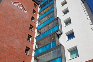 Die als Loggien ausgebildeten Balkone werden aufgrund des verbesserten Wetter- und Lärmschutzes deutlich intensiver genutzt<br />