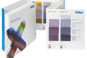 Die 52 verschiedenen Farben des Systems bieten viele Möglichkeiten, Balkone, Terrassen oder Eingangsbereiche individuell zu gestalten