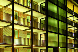Mietwohnungen durch Umnutzung eines früher als Wohnheim und von einem Verlag genutzten Gebäudeensembles, Stuttgart