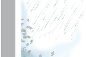 Regen und auftrocknende Feuchtigkeit lösen Schmutzpartikel und reinigen die Fassade